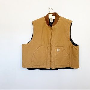 CARHARTT Mens Big Tall DUCK CANVAS WORK VEST